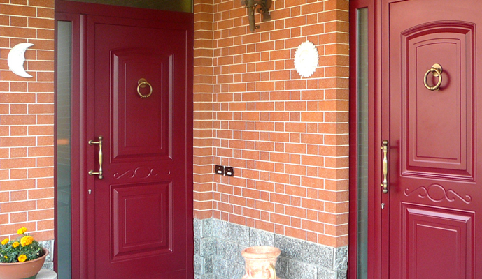 Monno serramenti porte blindate for Ingresso ville moderne