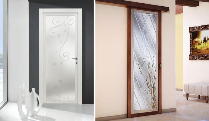 Monno serramenti porte in vetro - Decorazioni porte interne ...